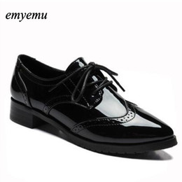 35f269705e79 New Women Platform Flats spring Autumn High Quality Oxfords Solid Plain PU  Leather Creepers Casual Oxford Shoes Woman big size affordable platform  oxford ...
