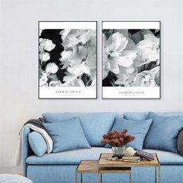 Wholesale Flower Watercolor Paintings - 2 pictures of simple Nordic home decor painting flowers in bloom fresco wall art posters