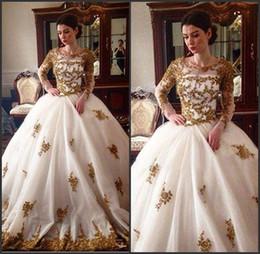 2019 vestidos de casamento Jewel Neck Deep V Split Busto A Line Low Cut Vestidos De Noiva Com Laço Frisado Detalhes vestido de noiva princesa vestidos de casamento barato