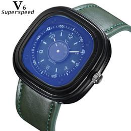 2019 relógios de couro v6 V6 dos homens esportes ao ar livre estudante relógios v6 marca de relógio de moda de alta qualidade pulseira de couro dress saat relógios de couro v6 barato