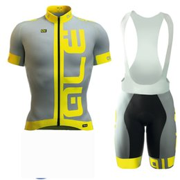 Wholesale Racing Jerseys - ALE team Jerseys Set Bicycle Tour Road Racing Cycling Short Sleeves jersey (bib) shorts sets Clothes With c703