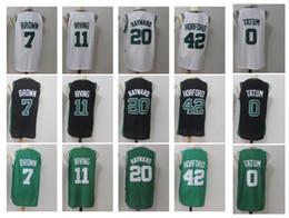 Wholesale Jersey 11 - 11 Kyrie Irving 0 Tatum 7 Brow 42 Horford 20 Hayward Men's Basketball Jerseys Player version Mens polo shirt Men Sport Jersey
