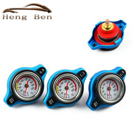 Wholesale Bar Radiators - HB Racing Temperature Gauge With Utility safe 0.9 and 1.1 and 1.3 Bar Water Temp Gauge Thermo Radiator Cap Tank Cover