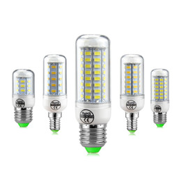Wholesale Chandeliers For Candles - SMD5730 LED Lamp E14 LED Bulb 220V Corn Bulb 24 36 48 56 69 72LEDs Chandelier Candle LED Light For Home Decoration Luminaria