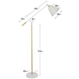 Люминесцентные лампы онлайн-Floor lamp Nordic living room bedroom  table lamps warm study creative personality simple modern vertical lamp floor