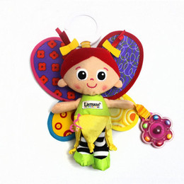 Wholesale Musical Baby Doll - Wholesale- Infant Baby Plush Toy Crib Bed Stroller Hanging Ring Bell Toy Soft Baby Rattle Mobiles Musical Early Educational Doll