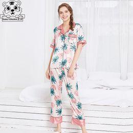 pajamas set pajamas for women satin sexy clothes sleepwear set Nightdress  pants silk homewear winter clothes women womens tops 11e330bee