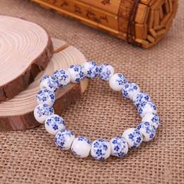 2019 fazendo pulseiras contas de cerâmica Azul E Branco Porcelana Beads Pulseira Estilo OL Cerâmica Acessórios Made In China Frete Grátis Presentes Criativos Preço de Fábrica desconto fazendo pulseiras contas de cerâmica