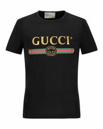 Wholesale T Shirt Plus Size - Women Men's T Shirt 2018 Summer Style T-shirt High Quality women Brand letter Print O-neck Short Sleeve 100% Cotton Couple Tee Plus Size