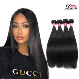 Wholesale 16 Inches Hair - 8A Mink Brazilian straight Virgin Hair Bundles 100% Brazilian virgin Hair straight Unprocessed Peruvian Malaysian Body virgin Human hair