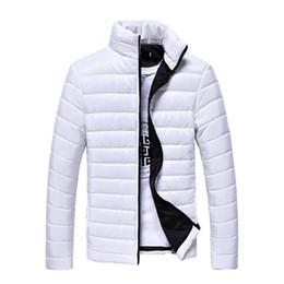 2018 Fruhling Herbst Winter Manner Marke Jacken Slim Fit Mannliche Thermische Mantel Teen Mode Down jacket Warme desde fabricantes