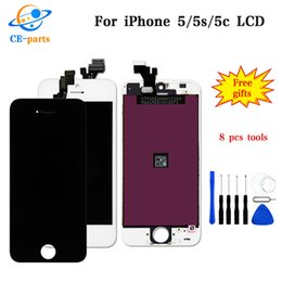 Wholesale display iphone 5c - LCD Display For Apple iPhone 5 5s 5c LCD Touch Screens Assembly Digitizer Parts No Dead Pixels Top AAA Quality Fast DHL Shipping