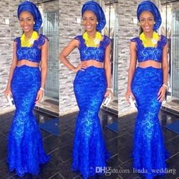 2019 königsblau afrikanische traditionelle kleider 2019 afrikanischen traditionellen Abendkleid königsblau langen Urlaub tragen Festzug Prom Party Kleid nach Maß plus Größe rabatt königsblau afrikanische traditionelle kleider