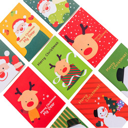 2019 impronta digitale della pittura di nozze 30 libro / lotto Lovely Cartoon Natale Babbo Natale pupazzo di neve cervo Notebook Kawaii Pocket Notepad Regalo per bambini Libro degli ospiti d'autore