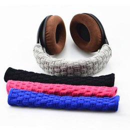 Wholesale Headphone Cushion Covers - Free Shipping Headphone Headband Cover Comfort Cushion Top Pad Protector Sleeve Accessories (black, red, blue, gray)