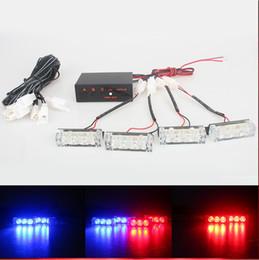 Luces de advertencia verde ámbar online-2x3 4x3 6x3 8x3 Advertencia EMS Police Lights LED Coche estroboscópico Flash Firemen 12v Emergencia de alta potencia Rojo Azul Blanco Verde Ámbar