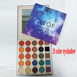 Wholesale Eye Glitter Eyeshadow - 2018 newest Cleof Eyeshadow palette 25 Colors Glitter Eye Shadow Pallet cleof cosmetics shadows DHL free shipping