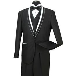 Fatos de tailcoat on-line-8 Fotos 30 2018 Em Stock Mens casamento formal Ternos Groom Groomsmen Tuexdos Negócios Desgaste xaile lapela 3 Pieces ST007 (Vest + Calças Jacket +)