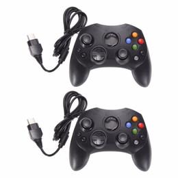 2 Unids / lote Moda Negro Controlador de Juego por Cable Pad de Juego Joystick para Microsoft XBOX S Tipo Tipo 2 Gamepad Con 1.47m Cable desde fabricantes