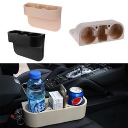 Canada Support de tasse de voiture 3 en 1 intérieur siège de voiture Gap Organizer Portable Multi-fonction Téléphone Drink Racks de clés titulaire Support d'étagère de stockage Stand Offre