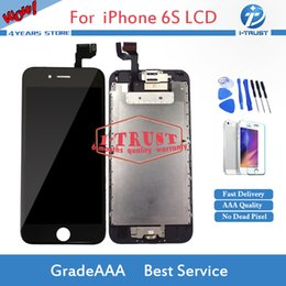 Wholesale Camera Replacement - Wholesales Full Assembly Set For iPhone 6S LCD home button+front camera Good Repiar Replacement Parts and Repair Tools With Free Shipping