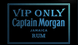 Wholesale Rum Signs - F752 VIP-Only-Captain-Morgan-Rum NEW 3D LED Neon Light Sign Retail and Dropshipping Wholes 8 colors Customize on Demand