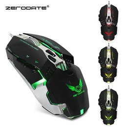 Wholesale Wire Weight - Original New ZERODATE X800 Wired Mouse Gaming Mouse With LED Light 3200DPI Adjustable Weight Gamer For PC Laptop