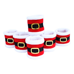 Wholesale ring holder tree - APRICOT 1pcs Santa Clothes Napkin Ring Holder Xmas Dinner Table Decoration for Home New Year Product Christmas Decor Tableware