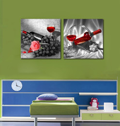 Pittura della parete del vino della Rosa e bottiglia di arte dell'uva su tela decorativa domestica nessuna cornice per foto supplier painting grapes da dipingere uva fornitori