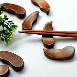 2019 besteck steht Holz Stäbchen Halter japanischen Stil Stäbchen Halter Geschirr Stäbchen Rahmen