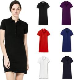 Las mujeres del verano de la manera rechazan el vestido del cuello de alta calidad de la señora de la manga corta del vestido delgado del polo de las mujeres outwear ropa desde fabricantes