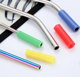 Anti-colisão on-line-8 cores palhetas de aço Inoxidável manga de Silicone 4 cm multicolor diâmetro Interno 6mm luva de Silicone anti dente colisão B