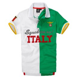 Wholesale France Country - Mens Polos Summer Short Sleeved Tees Fashion Football Country Name ITALY USA ENGLAND BRIZAL FRANCE TOPS