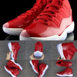 Wholesale Game Points - New 11s Gym Red Win Like 96 Chicago Basketball Shoes Men Women 11 Gym Red Black White Sneakers High Quality With Shoes Box