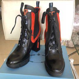 2019 botas de cowboy vermelho sexy Botas de grife de luxo das Mulheres Nova Moda Flock Plataforma de Salto Alto Mulheres Outono Inverno Ankle Boots Casuais Sapatos Us5-10