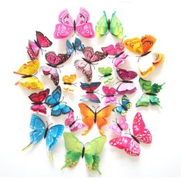 2019 статические настенные наклейки Золушка бабочка 3D бабочка украшения стены стикеры 12 шт. 3D бабочки 3d бабочка ПВХ съемный стены стикеры butterflys в наличии