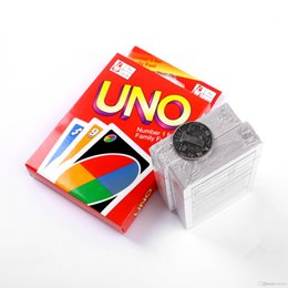 Wholesale Poker Playing Styles - UNO Playing Poker Cards Table Game UNO Standard Edition 270g  catton 6 style 180g Family Fun Entermainment Board Game Kids Funny Puzzle Game