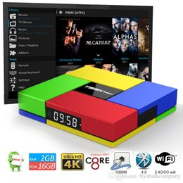 Wholesale Facebook Video Youtube - Octa Core T95K pro Streaming Boxes Fully Loaded 17.1KD Amlogic S912 Android 7.1 OTT TV Box H.264 H.265 4K HD video play
