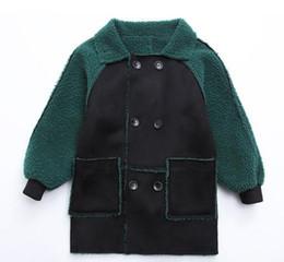 Новая мода зеленый мальчики зимняя куртка детская искусственного меха пальто малыша Дети добавить шерсть длинные верхняя одежда пальто мальчиков одежда от Поставщики добавить долго