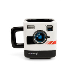 Wholesale united coffee - United Kingdom Originality Mustard Ceramics Polaroid Camera Photo Mug Model Glass Teacup Coffee Cup Caneca Copo Cerveja Funny
