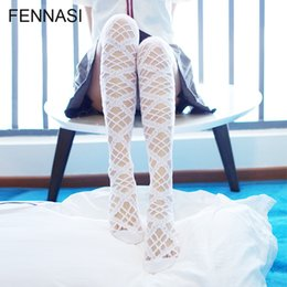 40190e0153f FENNASI Lolita Women Lace Stockings Over Knee Japanese Sweet Stockings  Thigh High Girl Kawaii Pantyhose Long Knee Sock
