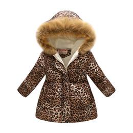 2019 moda para baixo jaqueta para meninos Novas crianças de pelúcia com capuz moda retro leopard print girl down jacket snowsuit menino jaqueta de inverno roupas de crianças quentes moda para baixo jaqueta para meninos barato