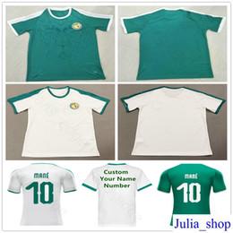 72465ff4025 2018 World Cup Senegal Jerseys 10 MANE Blank Customized Any Name Home Green  White Custom Soccer Football camiseta de futbol Shirt Uniform