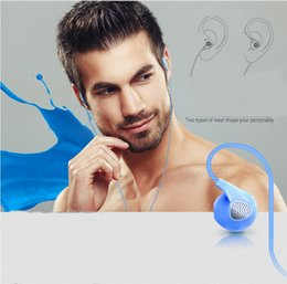Wholesale Mobile Phone Trading - NEW hot Wired Earphones sports band wheat mobile phone universal color intelligent ear plugs foreign trade beauty standard headphones