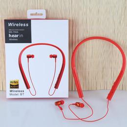 повесить наушники уха Скидка Продажа Висячие наушники для наушников Портативные наушники для беспроводных наушников Спорт Bluetooth-гарнитура MS-750A высокое качество для Sony Iphone Samsung