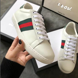 Wholesale Ace Boxes - High quality Luxury Brand G Colorful shoes Casual Ace Men Sneaker Fashion Women Comfortable shoes Box Packing Size EU35-44