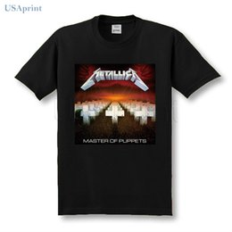 Wholesale men clothing heavy - USAprint Summer Cool Men Metallica T Shirt Heavy Metal Clothing Cotton Male Top Print Custom Male Top Short Sleeve Casual Tees