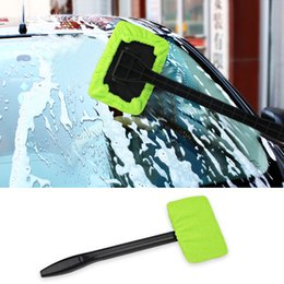 Wholesale Home Handle - Car Washer Brush Microfiber Window Cleaner Long Handle Dust Car Care Windshield Shine Towel Handy Washable Car Cleaning Tool