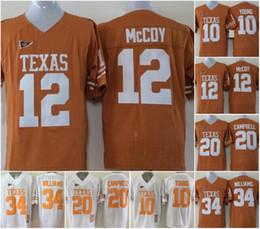 2019 texas longhorns jerseys NCAA Vintage Texas Longhorns College Camisetas de fútbol Barato 10 Vince Young 34 Ricky Williams 20 Earl Campbell University Camisetas de fútbol rebajas texas longhorns jerseys