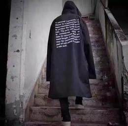 Hip hop moda homens coreia on-line-2018 Mais Novo TOP Coréia hip hop kanye west moda Vetements One Size blusão jaqueta impermeável capa de chuva homens negros mulheres Wittmann
